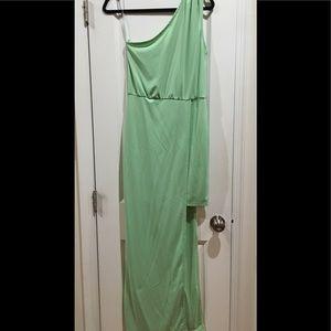 ASOS Light mint green one shoulder dress NWT